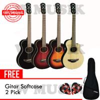 Yamaha Gitar APX T2 / APXT2 - (Tersedia 4 Warna) + Softcase & 2 Pick