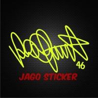 Sticker / Stiker Valentino Rossi Signature (tanda tangan) - Vale 46