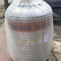 Toren Tangki Air Stainless Steel Profil Tank 500L PS 550 D / Datar
