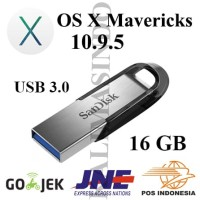 Flashdisk USB 3.0 16GB Bootable OS X Mavericks 10.9.5 for MAC