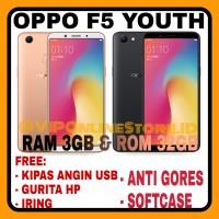 OPPO F5 YOUTH NEW RAM 3/32GB GARANSI RESMI OPPO INDONESIA 1 TAHUN.