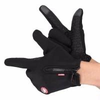 Sarung Tangan Motor / Resleting Wind Stoper / Motor Gloves Pria Wanita