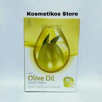 Qiansoto Olive Oil Sheet Mask/ Masker Tissue Wajah Zaitun