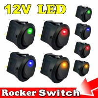 Saklar Lampu Mobil / Switch On Off Lampu Mobil Dc 12 Volt