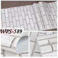 WPS589 BATA PUTIH 3D WALLPAPER STICKER WAL PAPER DINDING