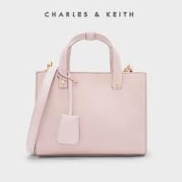 SAG4351NudE Charles and Keith Strutured Top Handle Bag