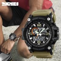 Jam Tangan Pria Sport Dual Time SKMEI 1283 Original Anti Air - Khaki