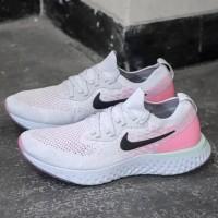 "Nike Epic React Flyknit ""Pure Platinum/Hydrogen Blue-Pink Beam"""