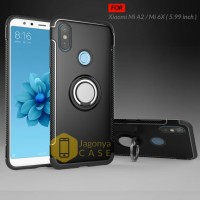 Case Xiaomi Mi A2 / Mi 6X Ultimate Carbon Ring Kickstand