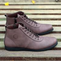 Sepatu Boots Pria Casual Model Brodo Kickers Jogger Semi Kulit