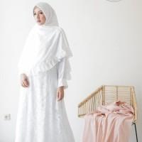 Baju Gamis Wanita Brukat / Syari Putih / Gamis Lebaran #2060