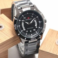 jam tangan pria swiss army full black