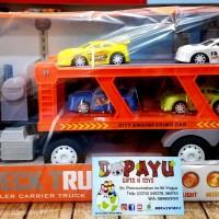 Mainan truk double deck Trailer Carrier Truck 8030-11A