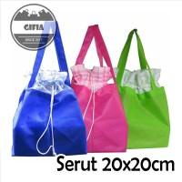 20x20 cm Tas Serut / Kantong Spunbond / Tas Kain / Goodie Bag