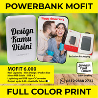 PowerBank CUSTOM PRINT 6.000mAh MURAH DESIGN BEBAS MOFIT Power Bank