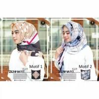 Hijab jilbab segi empat zenmato motif abstrak by yeffa