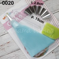AB-0020 Spuit set buttercream flower cake pipping bag solet silikon