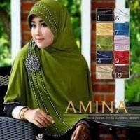 Hijab/Jilbab Bergo Syar'i Amina/ jilbab/ kerudung/ fashion muslim