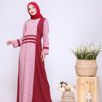 Dress Alnita gamis AG 41 maroon