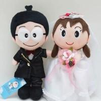 Sepasang Boneka Shizuka Nobita Wedding Couple