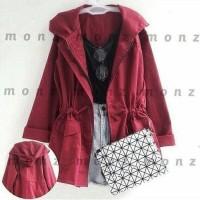 HOT SALE Maroon jacket jaket merah jaket murah outer luaran parka