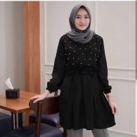 TERBATAS Baju Muslim wanita Blouse putih Atasan murah Hijaber Alma To