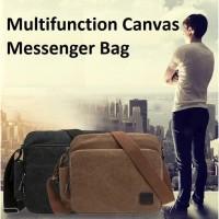 Tas Messenger Selempang Kanvas Canvas Pria Premium Import Multi Fungsi