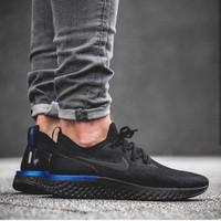 Sepatu Snekaer Nike Epict React Flyknit Black Pria