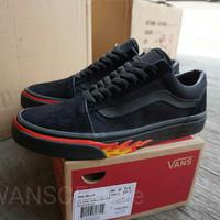 Sepatu VANS Oldskool Flame Black