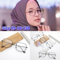 Frame Kacamata Sabyan kotak Kacamata hijab Fashion