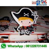topi ulang tahun anak unik tema bajak laut desain free by custom