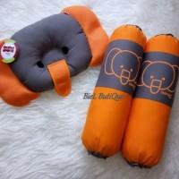 DIALOGUE BABY set bantal guling bayi bantal peang cute seri motif gaja