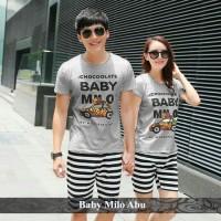 baju couple | baju pasangan | kaos lucu | baby milo couple