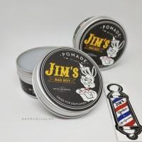 JIM'S BAD BOY STRONG HOLD OILBASED POMADE JIMS 3.3OZ FREE SISIR