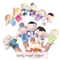 GROSIR Boneka Jari Tangan Keluarga Family Finger Puppet Mainan Edukasi
