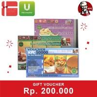 Voucher KFC Rp 200.000