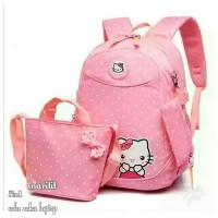 Tas sekolah Anak Perempuan Hello Kitty Set 3in1