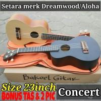 Ukulele gitar mini kencrung gitar kecil Premium Concert Bonus Tas