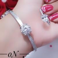 gelang cincin xuping lapis emas putih 24k 3149