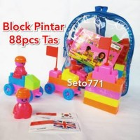 [MAINAN ANAKSHOP] Blok Tas 88pcs Bongkar Pasang Lego Bricks Block Pint