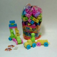 [MAINAN ANAKSHOP] Mr. Block Lego Bricks Bongkar Pasang Edukasi 206 ata