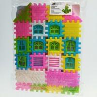 [MAINAN ANAKSHOP] Lego Bongkar Pasang Funny Block Rumah