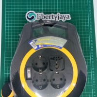Kabel Roll Turbo 4 Lubang + Saklar 10M YUNIOR LY 116 SK