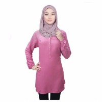 Jual Blouse polos Fathin basic Rose Pink