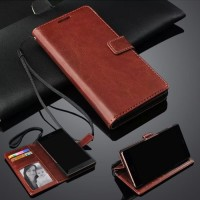 FLIP COVER WALLET XIAOMI MI MAX 3 Casing Hp Leather Dompet KULIT ORI