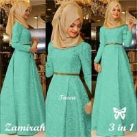 TERBARU Gamis Baju Pakaian Wanita Muslim New Zamirah Syari