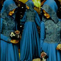 Baju Pakaian Wanita Gamis Pesta Terbaru Marimar Set Blue Termurah