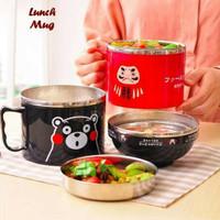 Lunch Mug Tempat bekal karakter / Tempat bekal ala japang makan siang