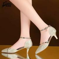 Sepatu pesta wanita gold emas seserahan hantaran mewah glamour glitter