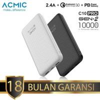 ACMIC C10PRO 10000mAh PowerBank Quick Charge 3.0 + PD (White)